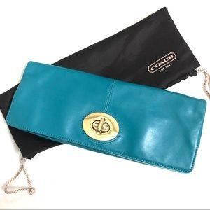 Authentic Coach Leather Envelope Clutch Purse Bag